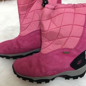 Pink Pull On Waterproof Thinsulate Snow Boots 6